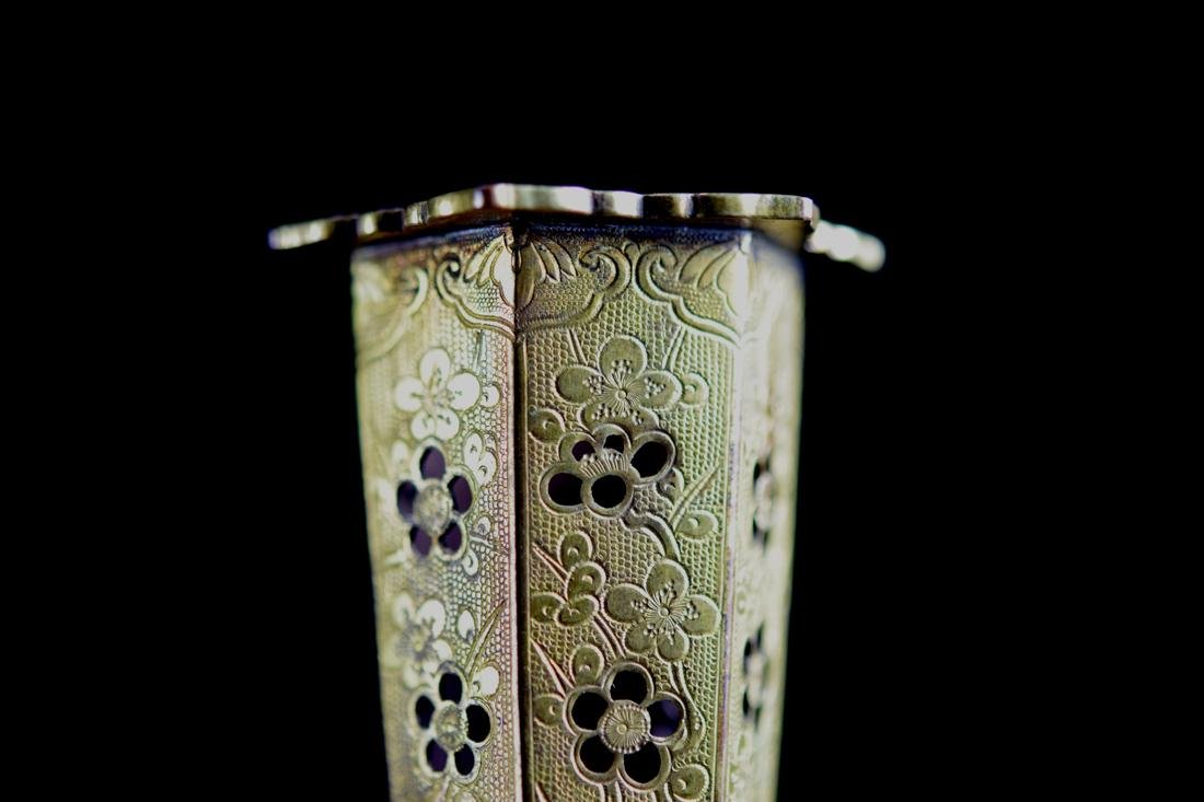 Chinese Gilt Bronze Censer Vase - 3