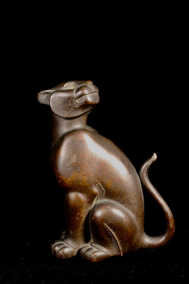 Japanese Bronze Model of a Standing Tiger - Signed