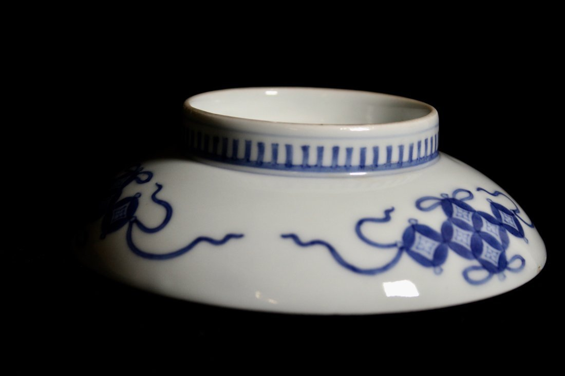 Pair Japanese Nabeshima Porcelain Dish with Peach Scene - 5