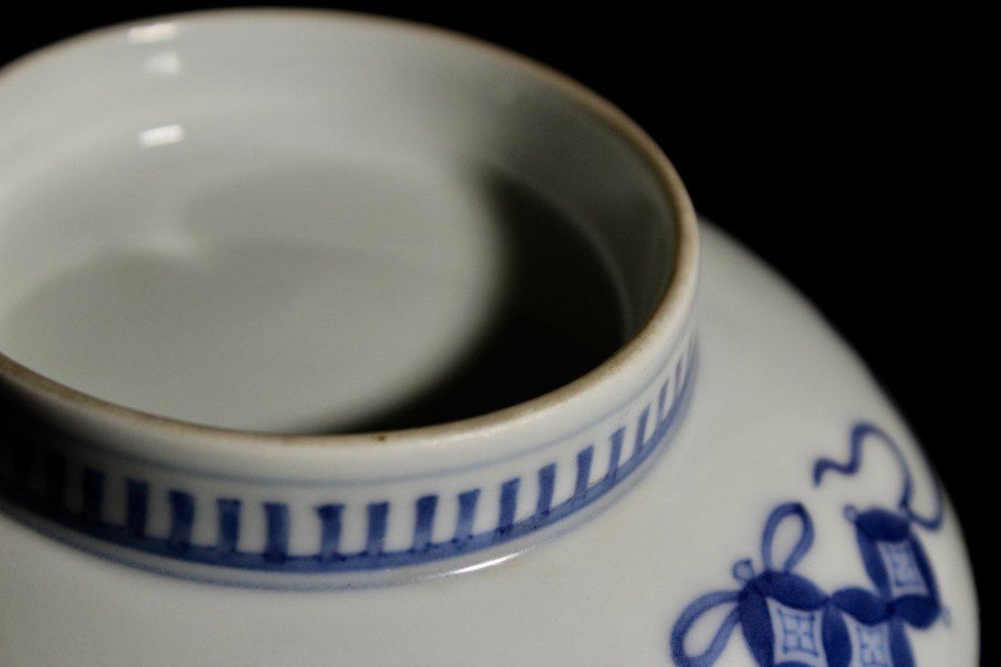 Pair Japanese Nabeshima Porcelain Dish with Peach Scene - 6