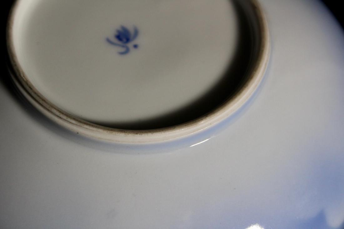Japanese Korasha Porcelain Vase of Crane Scene - 7
