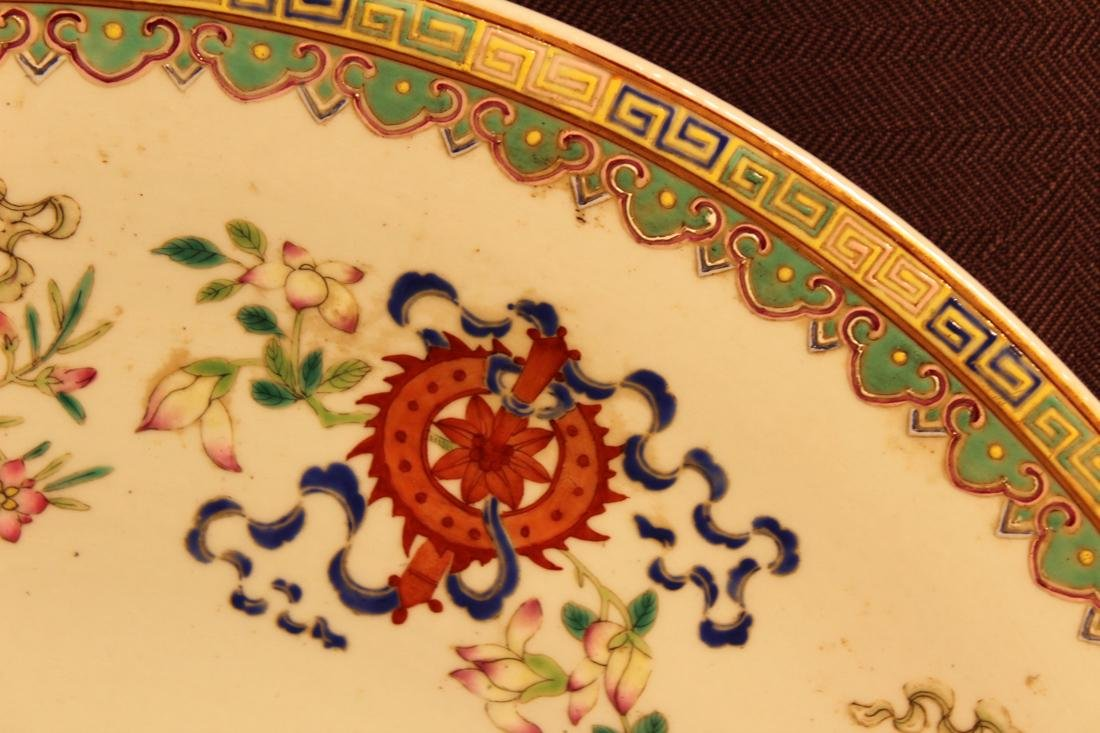 Chinese Famille Rose Porcelain Charger with Dragon - 3