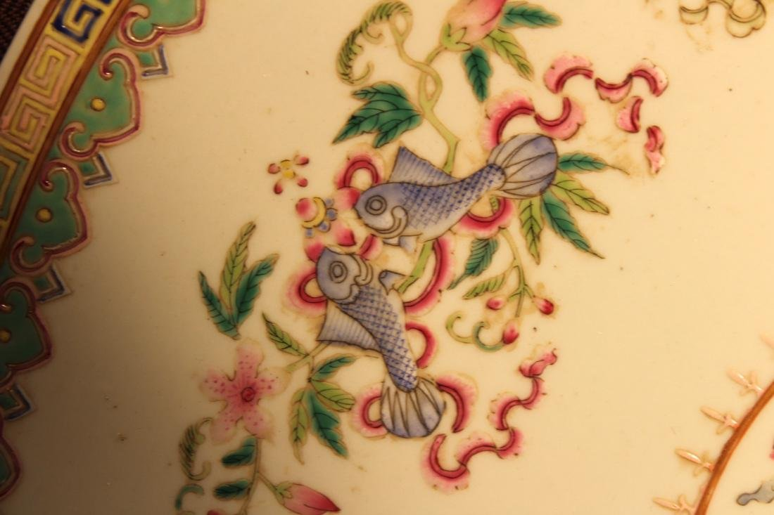 Chinese Famille Rose Porcelain Charger with Dragon - 4