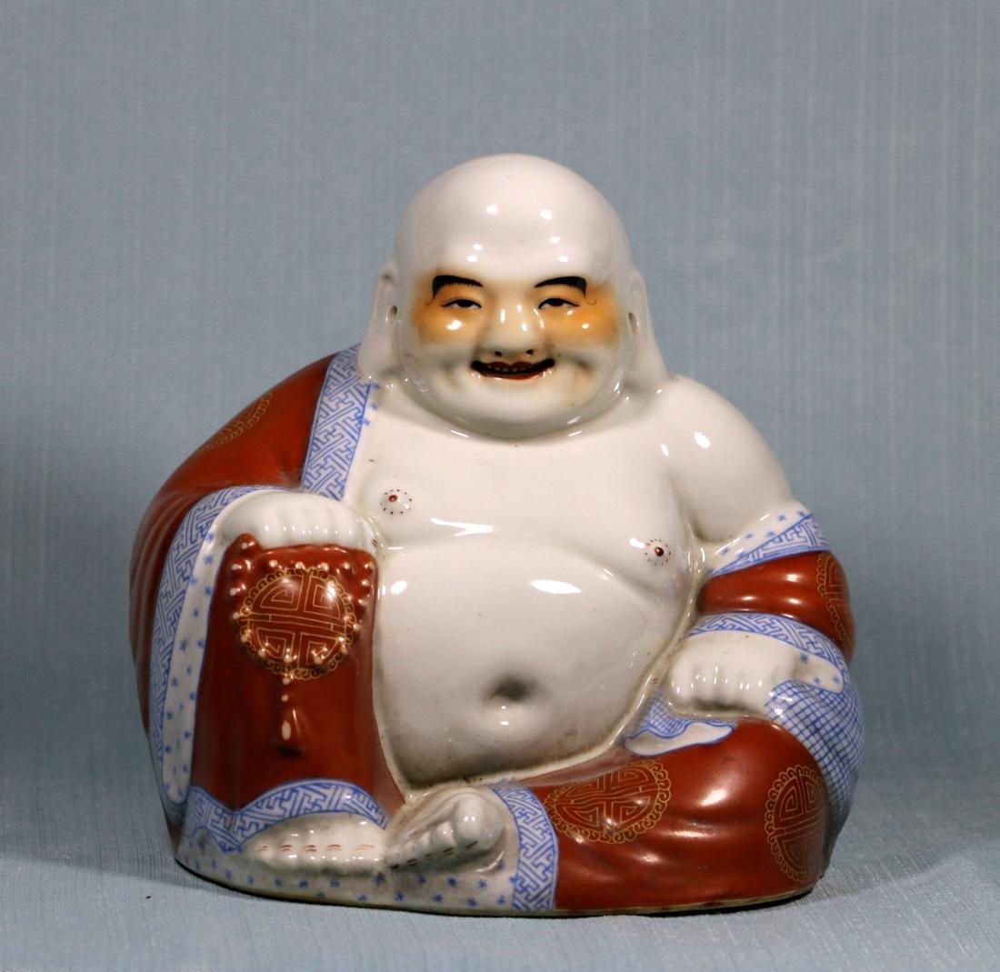 Chinese Porcelain Seated Happy Buddha