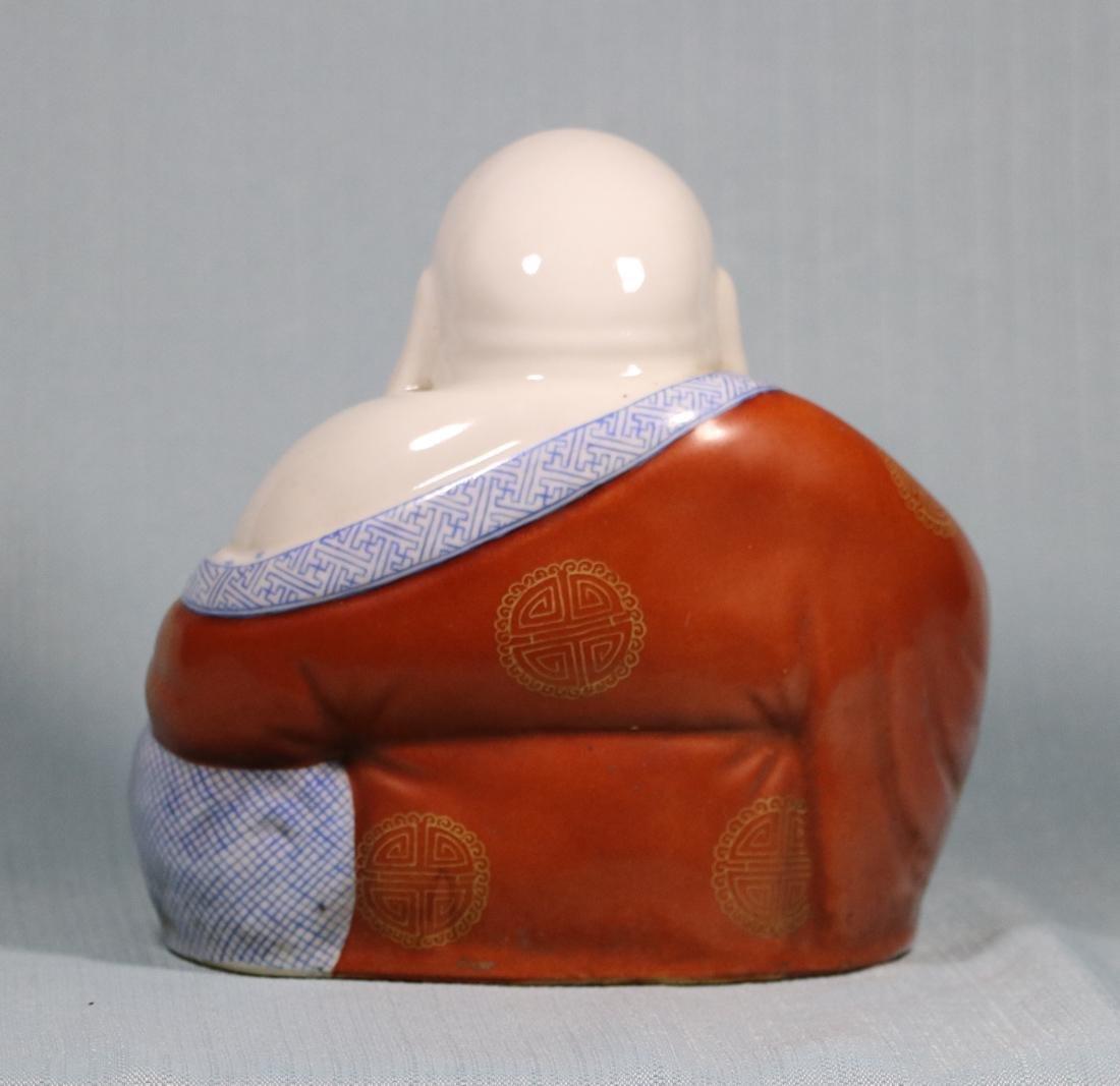 Chinese Porcelain Seated Happy Buddha - 5