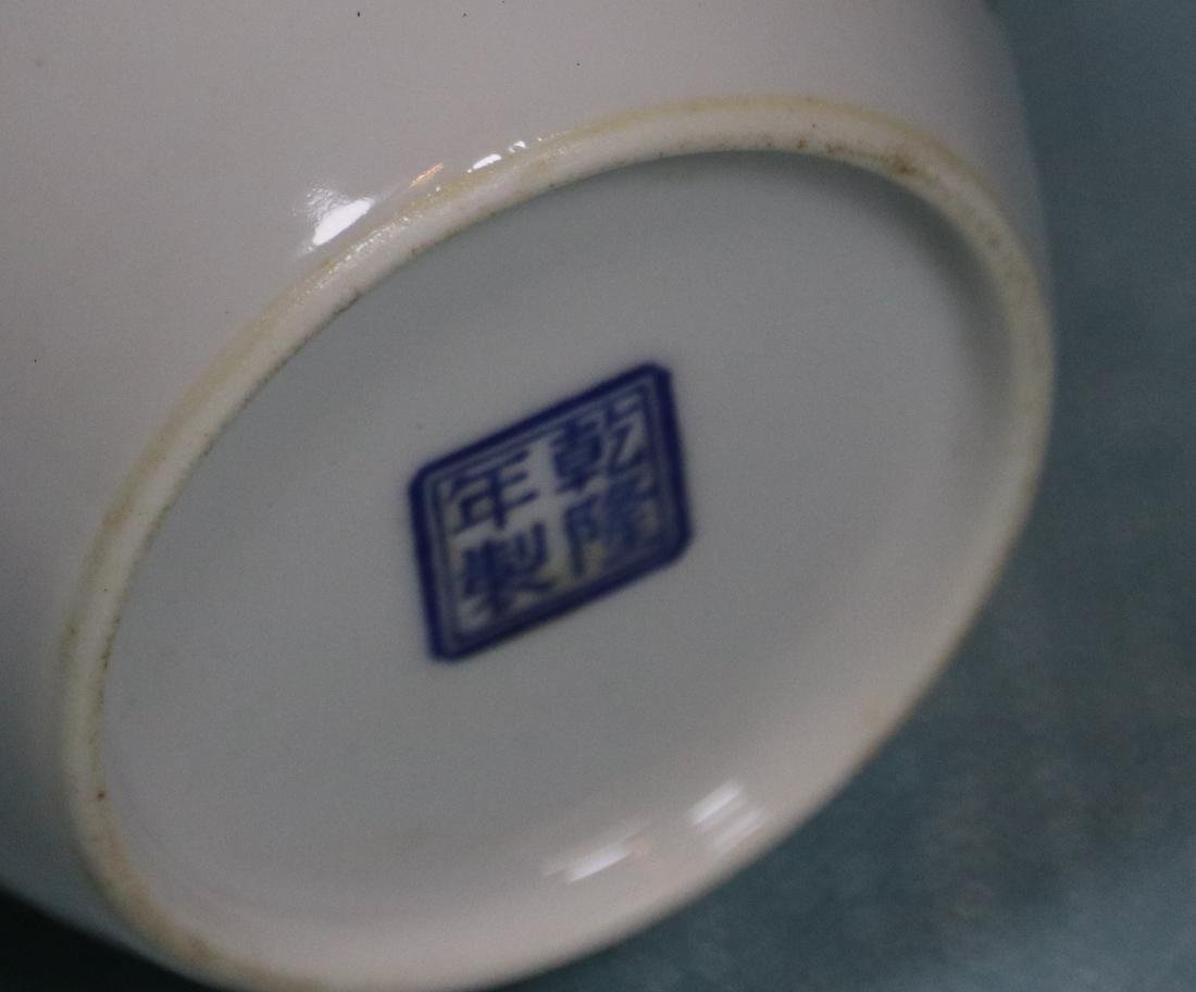 Chinese Egg Shell Porcelain Vase of General on Horse - 7