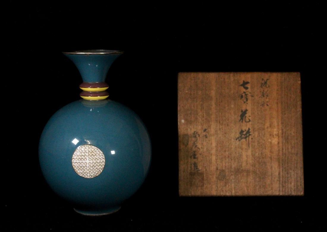 Art Deco Japanese Cloisonne Vase by Shobito -