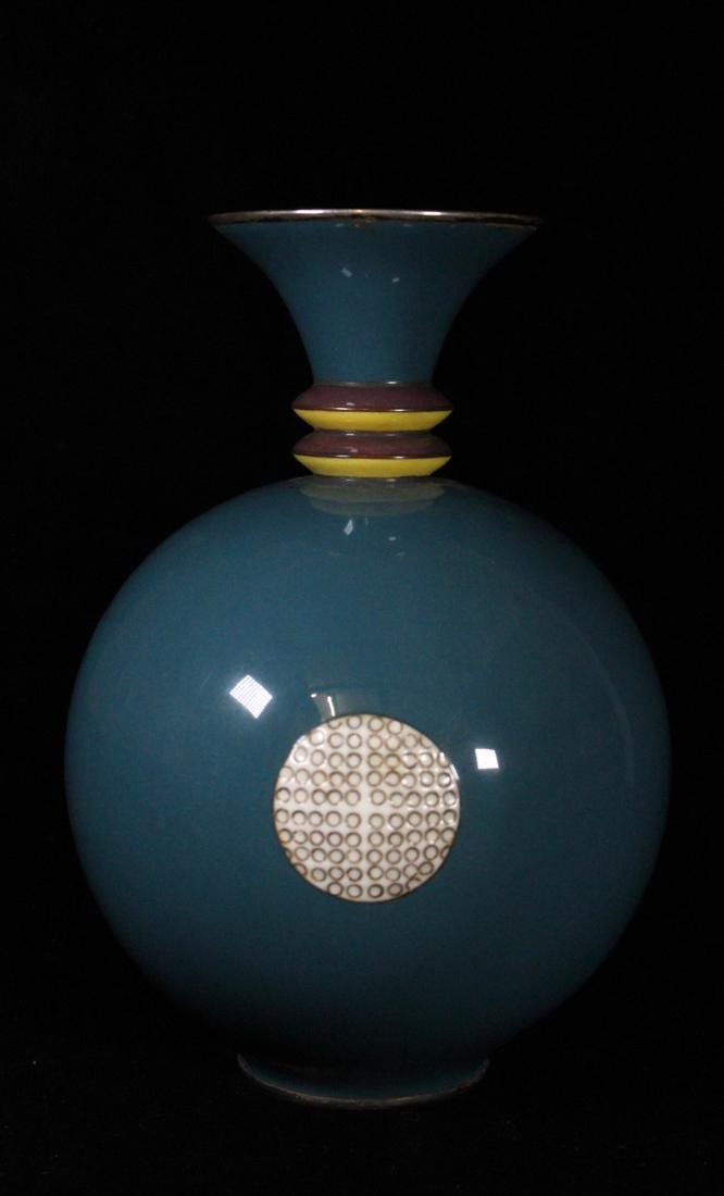 Art Deco Japanese Cloisonne Vase by Shobito - - 3
