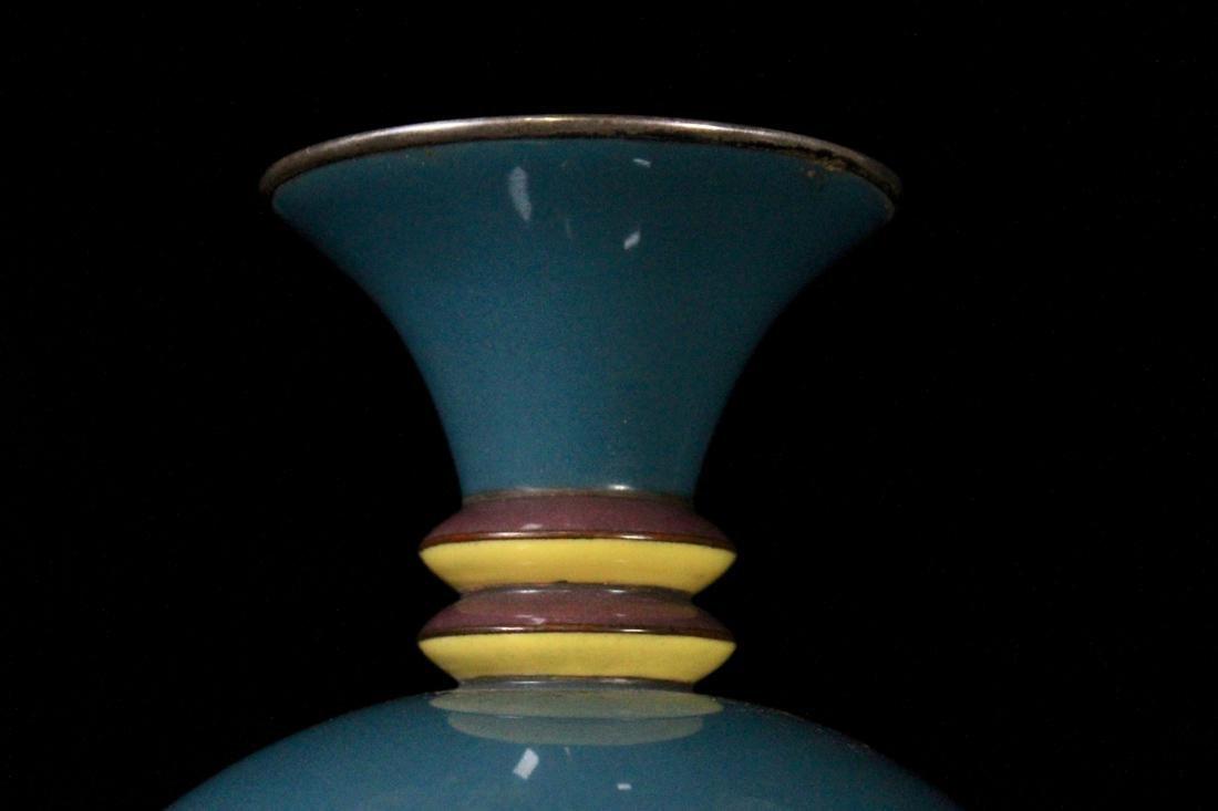 Art Deco Japanese Cloisonne Vase by Shobito - - 6