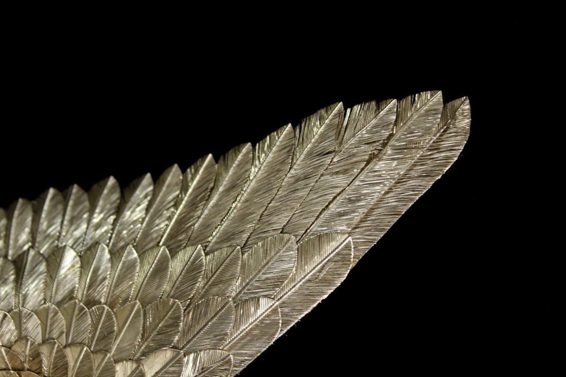 Japanese Sterling Silver Hawk - Signed - 4