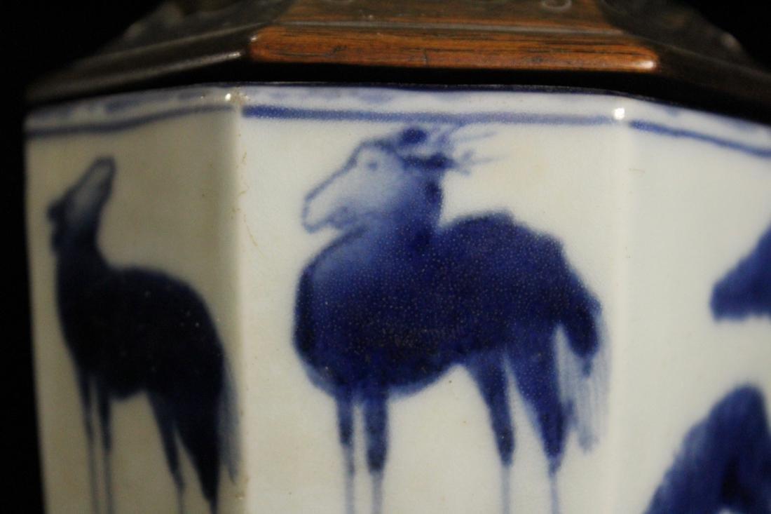 Japanese 18th cen Arita Blue White Porcelain Censer - 3