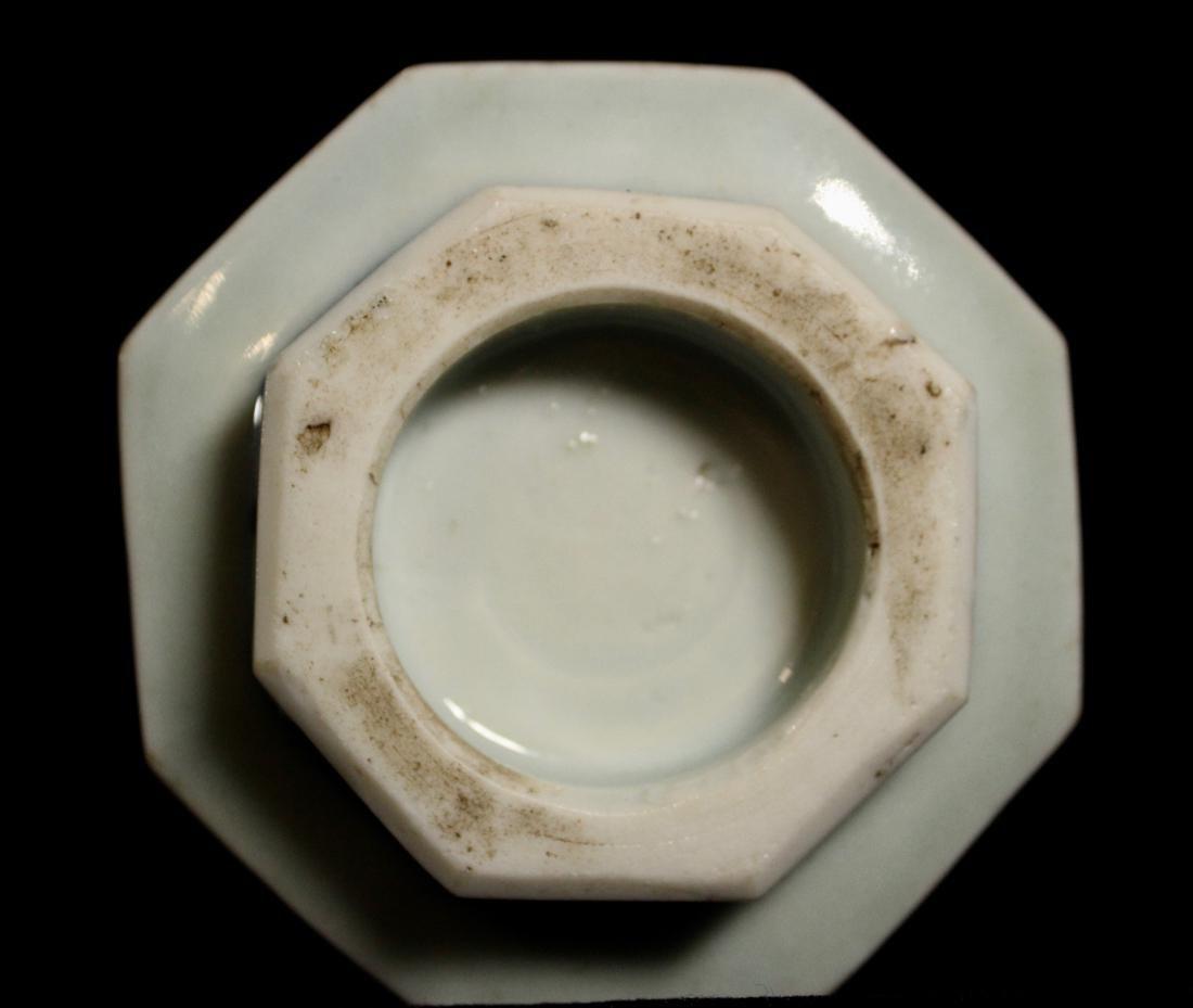 Japanese 18th cen Arita Blue White Porcelain Censer - 6