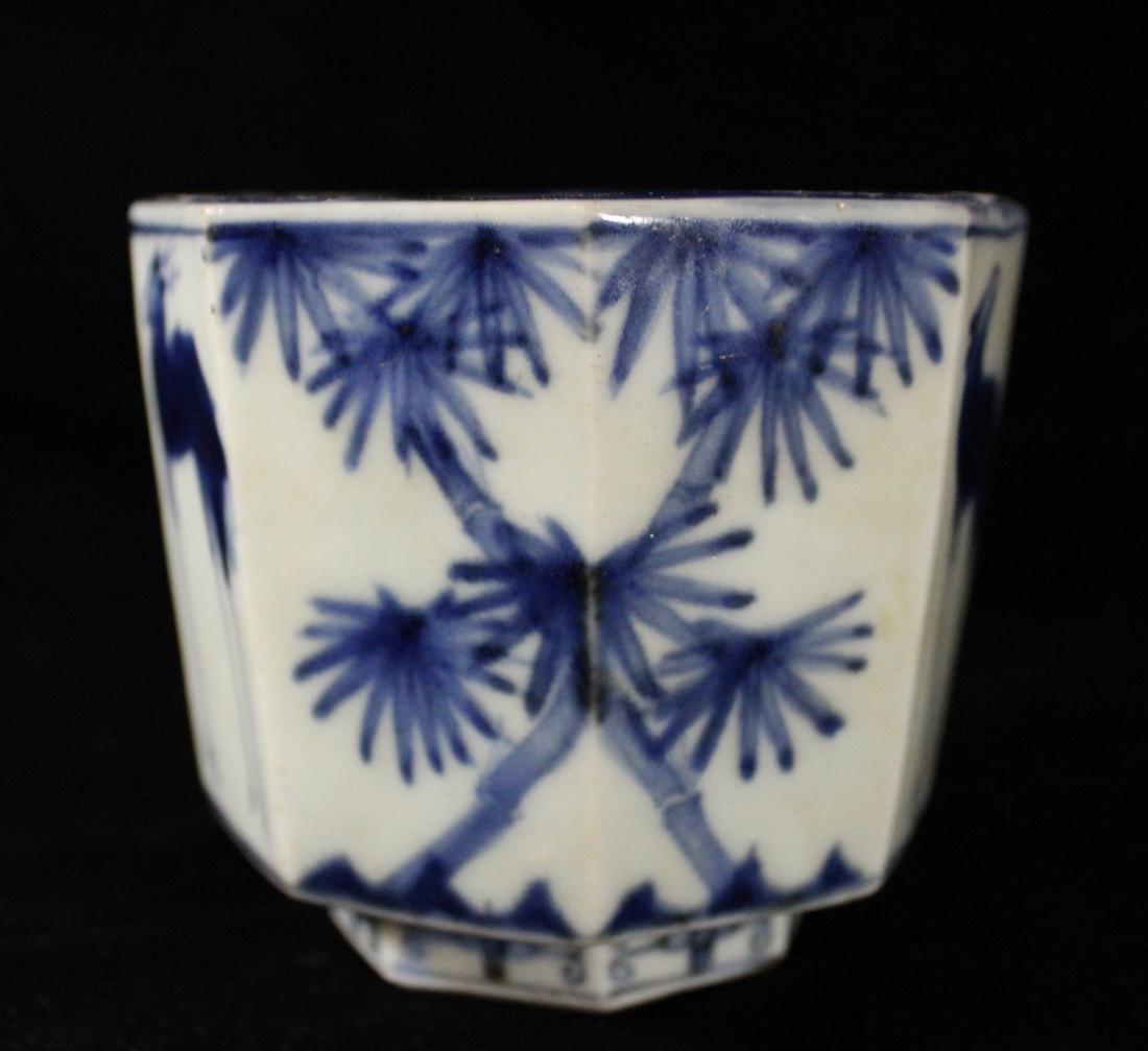 Japanese 18th cen Arita Blue White Porcelain Censer - 9