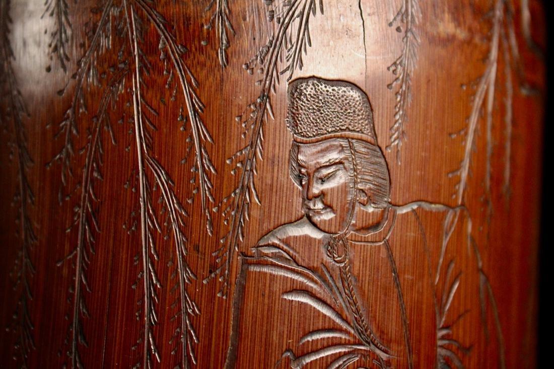Japanese Edo Period Bamboo Brushpot - 6