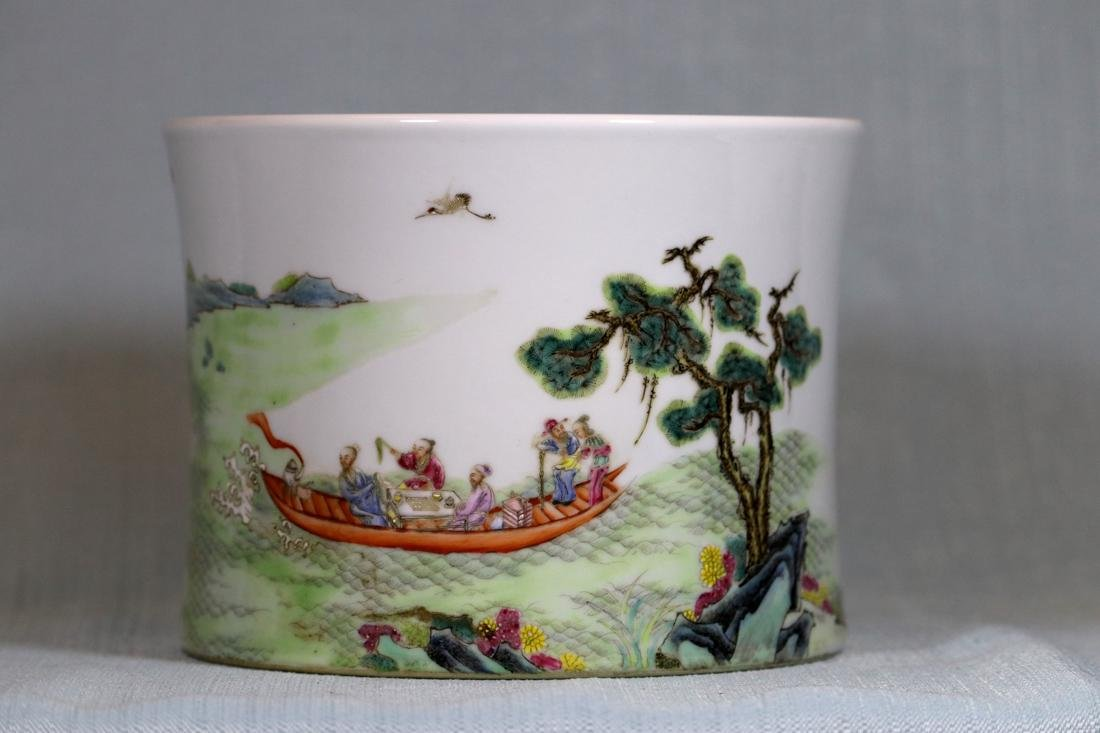 Chinese Doucai Porcelain Rouleat Vase