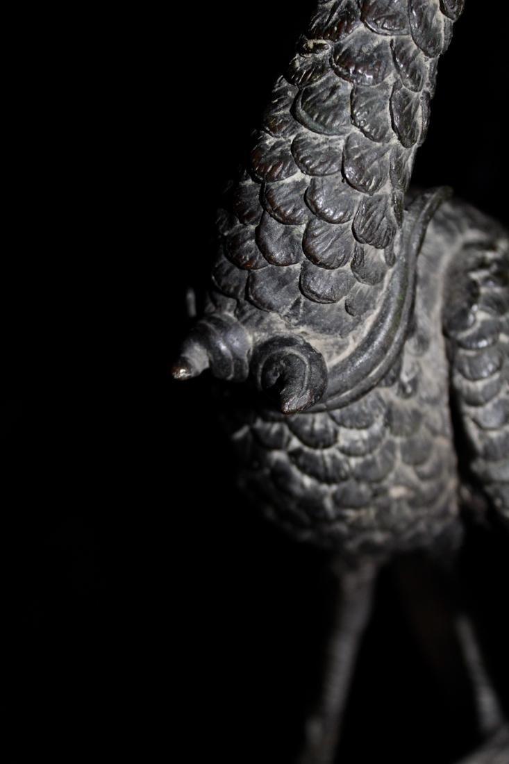 Large Chinese Bronze Pheonix on Tree - 7