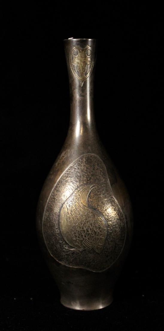 Japanese Sterling Silver Vase - Stamped Juning