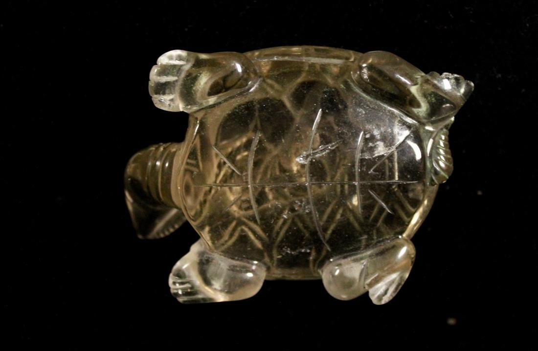Chinese Rock Crystal Carving of a Turtle with Coin - 6