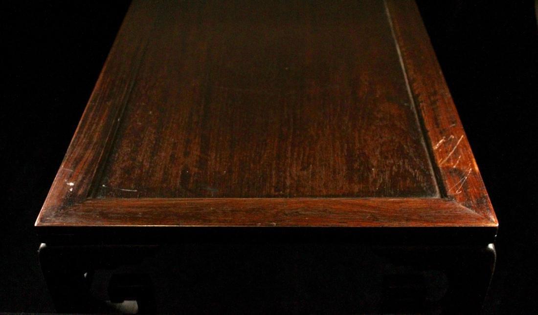 Chinese Rectangular Hardwood Stand - 6