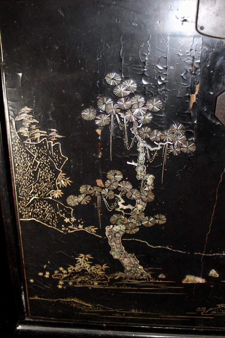 Chinese Ming Lacquer Chest with Mother of Pearl Inlay - 2