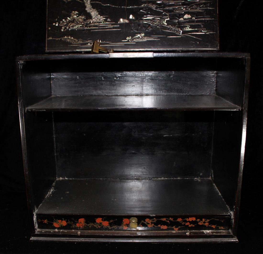 Chinese Ming Lacquer Chest with Mother of Pearl Inlay - 9