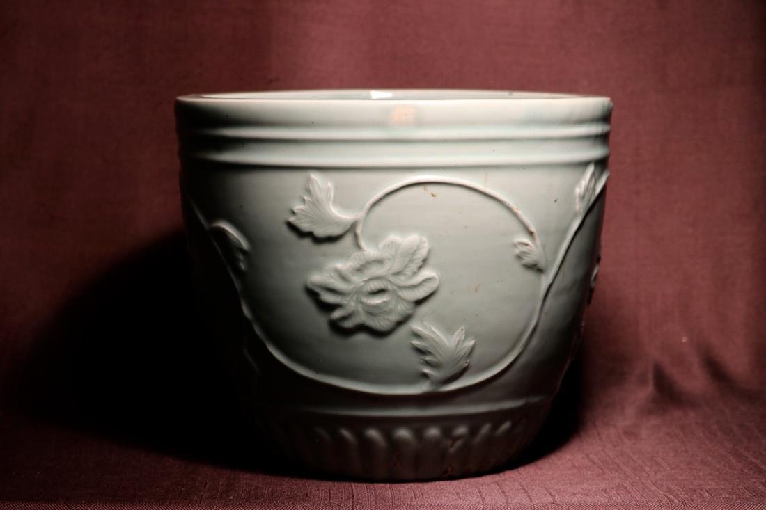Chinese Ming Porcelain Celadon Fishbowl