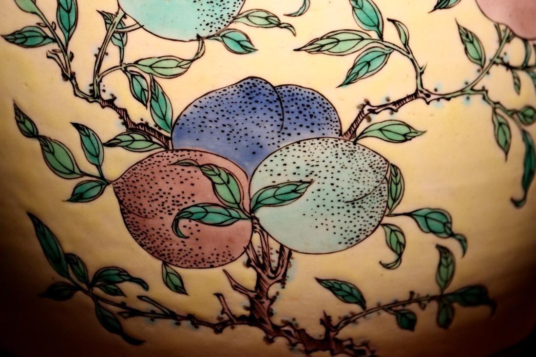 Chinese Sancai Porcelain Scholar Elbow Rest Drum - 2