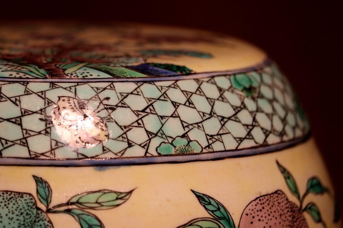 Chinese Sancai Porcelain Scholar Elbow Rest Drum - 3