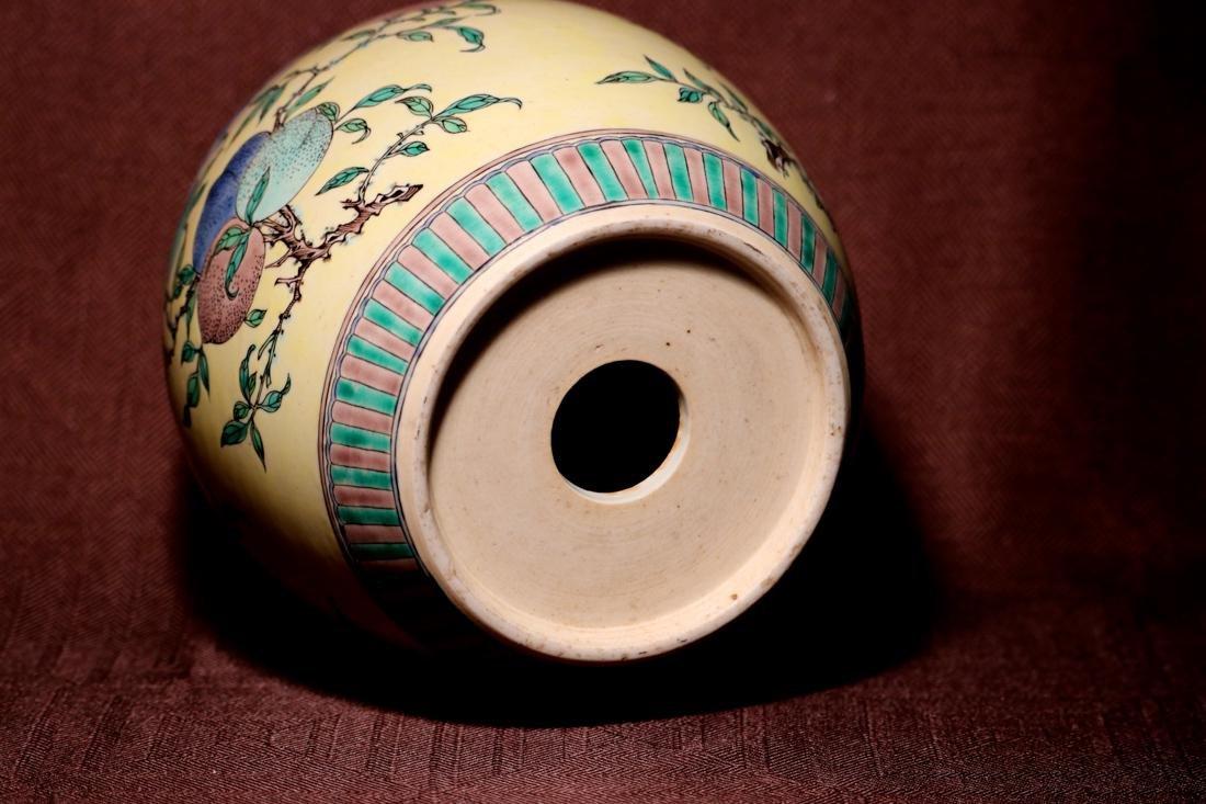 Chinese Sancai Porcelain Scholar Elbow Rest Drum - 4