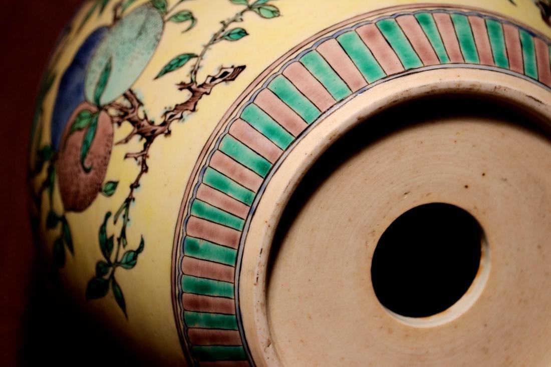Chinese Sancai Porcelain Scholar Elbow Rest Drum - 5