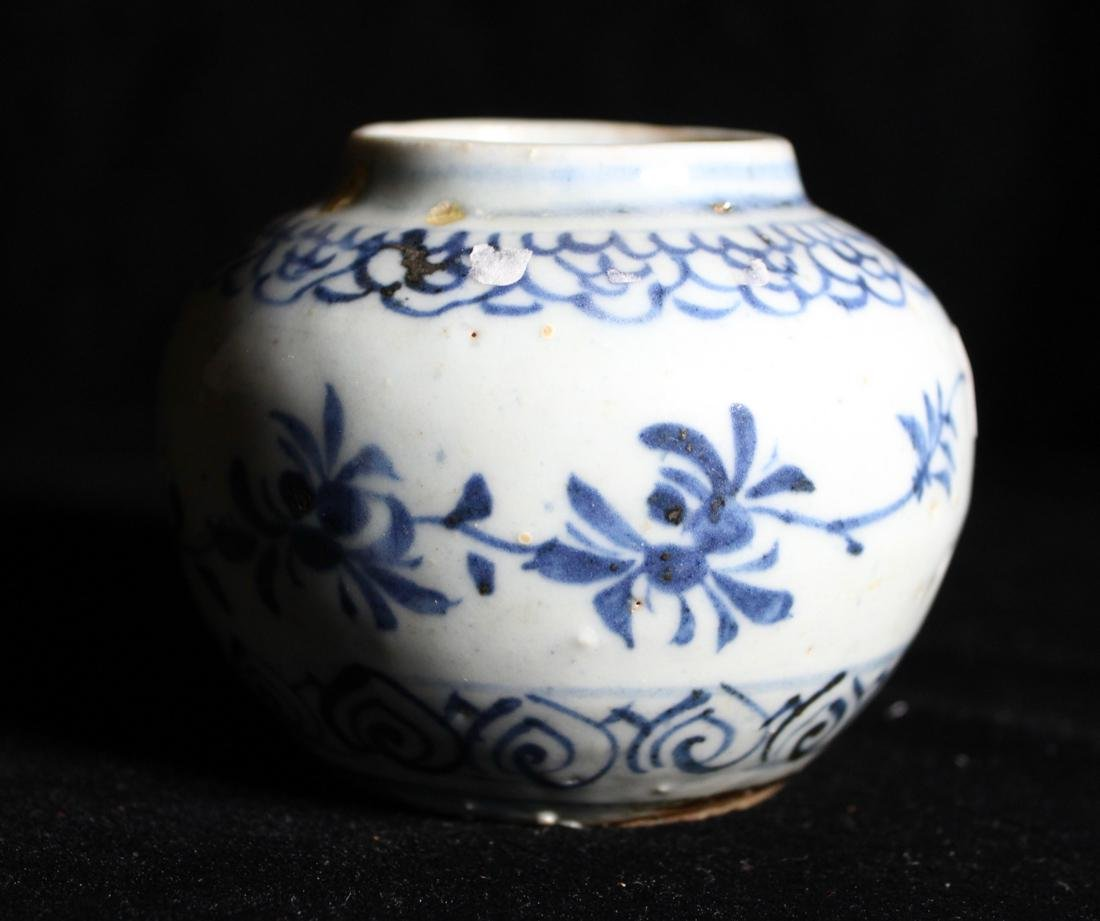 Chinese Small Ming Blue White Porcelain Vase