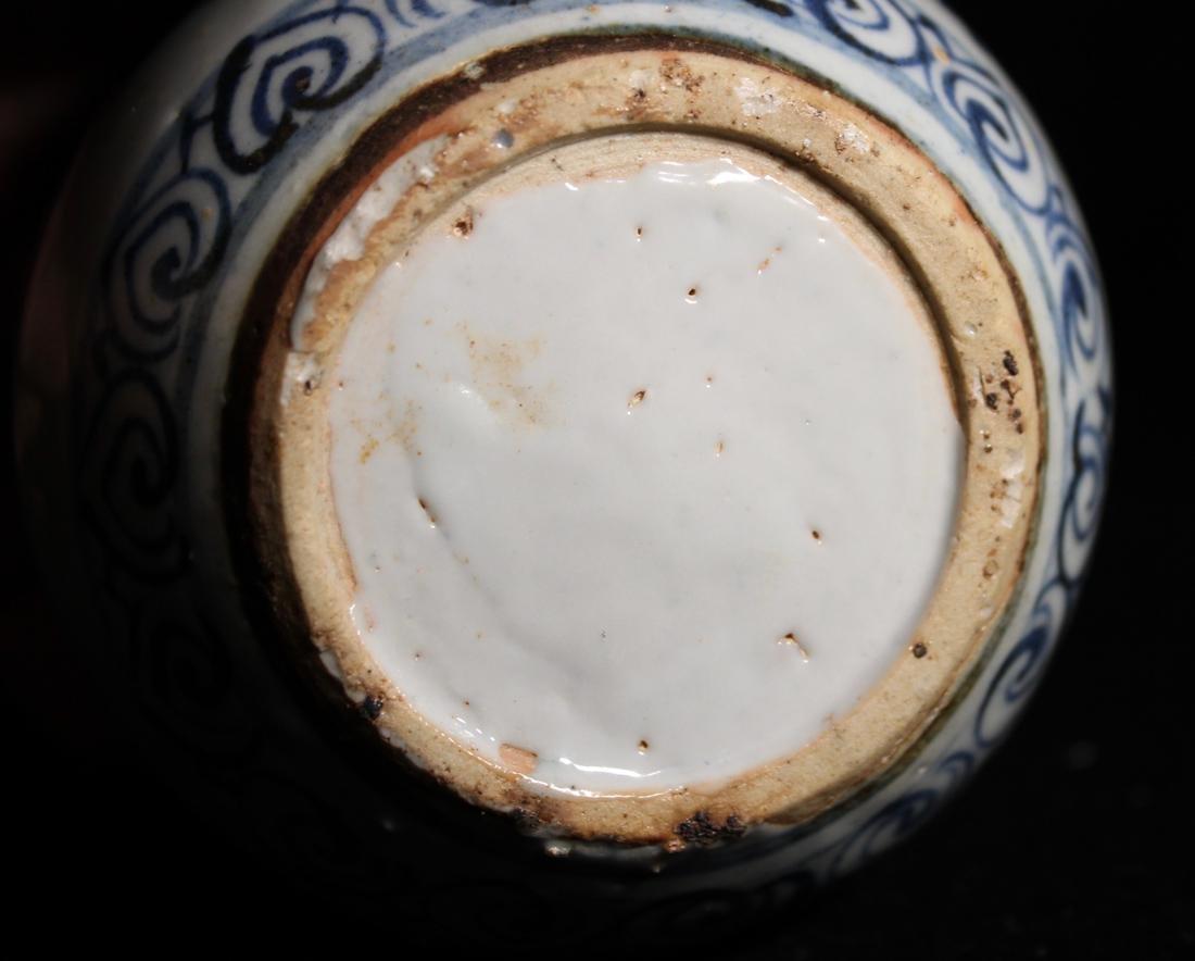 Chinese Small Ming Blue White Porcelain Vase - 5