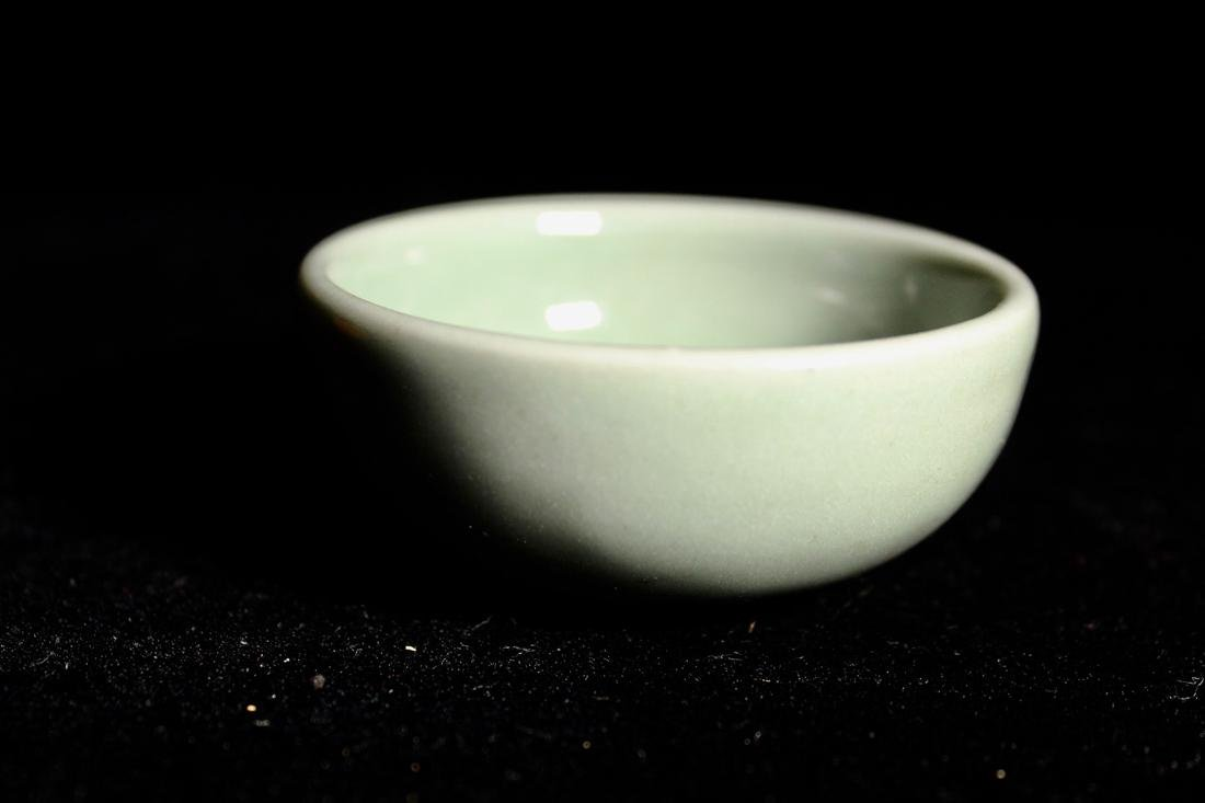 Early Chinese Yuan Ming Celadon Porcelain Bowl with Sac - 2