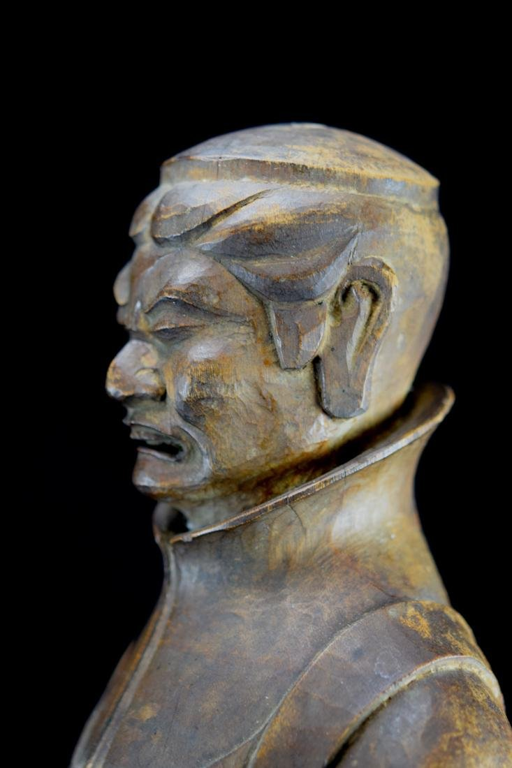 Early Japanese Wood Carving of a Priest - 7