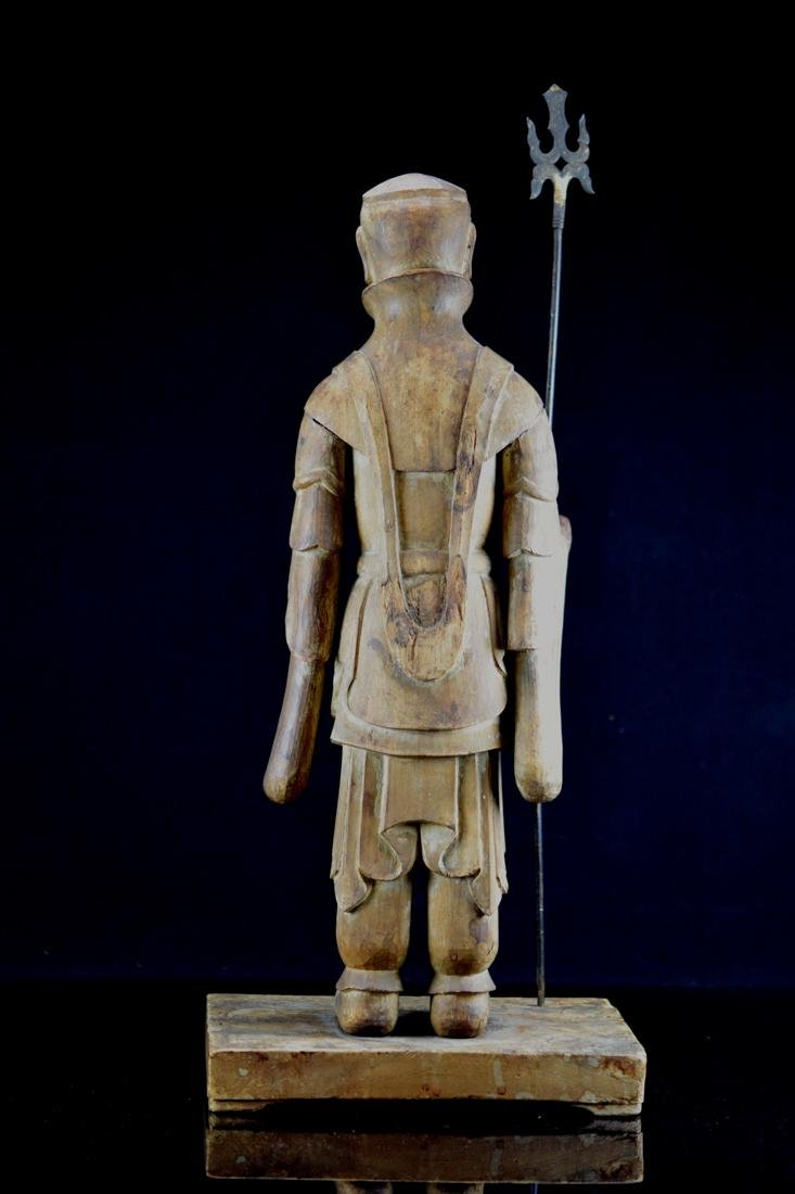 Early Japanese Wood Carving of a Priest - 8