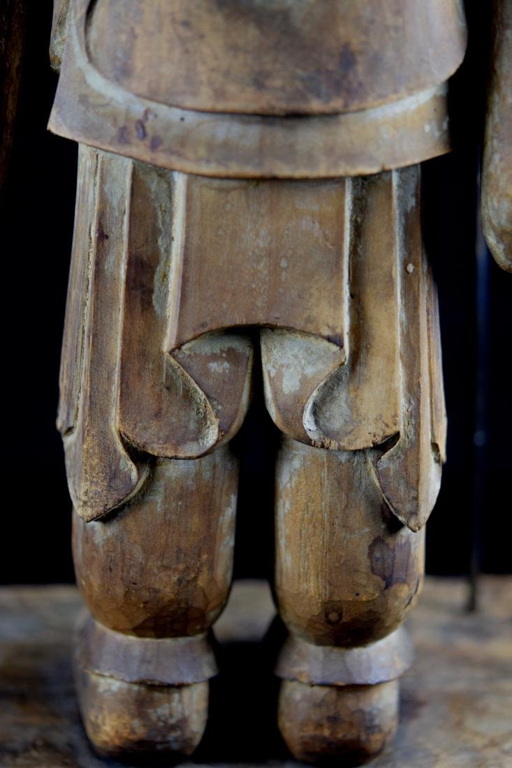 Early Japanese Wood Carving of a Priest - 9