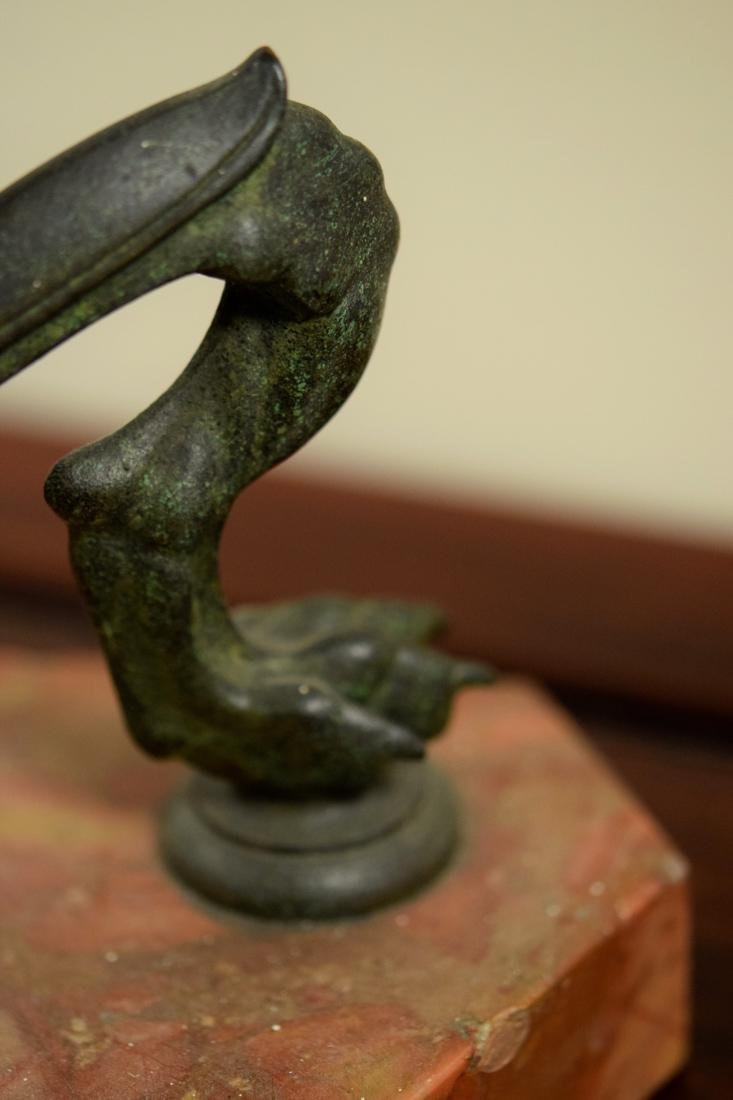 American Arts Crafts Tiffany Bronze Floor Lamp with - 3