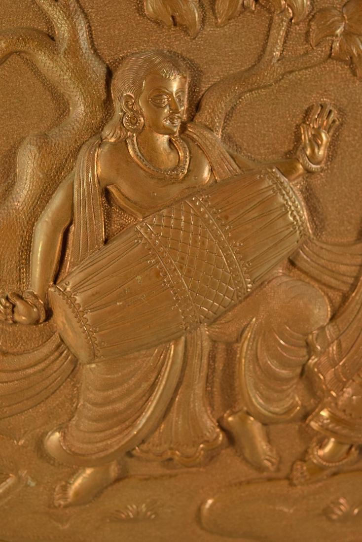 Unusual Nepalese Copper Plaque with Dancer - 2
