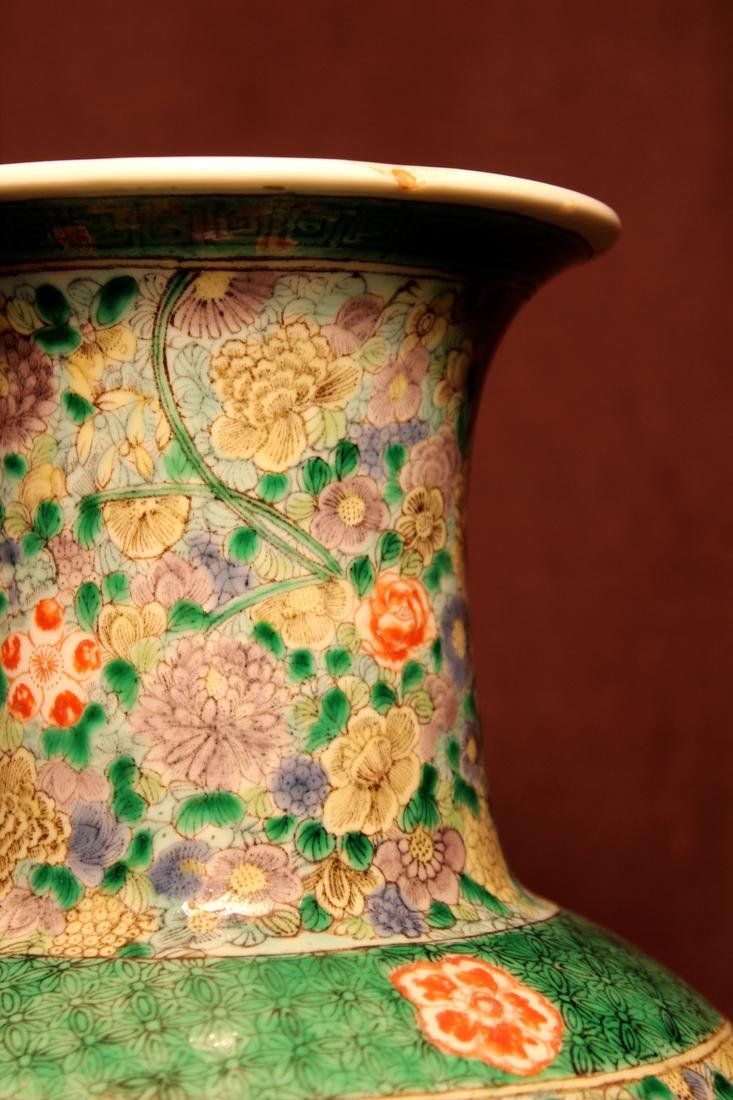 Chinese Famille Verte Porcelain Vase with Immortals - 5