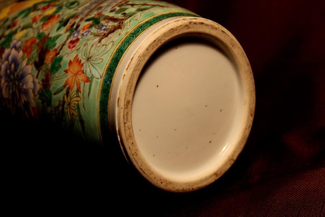 Chinese Famille Verte Porcelain Vase with Mandarin Duck - 7