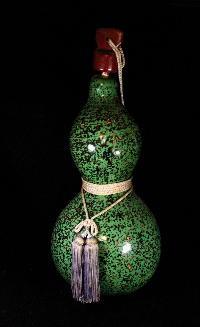Large Japanese Gourd with Lacquer