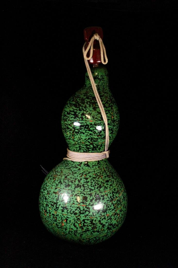 Large Japanese Gourd with Lacquer - 5