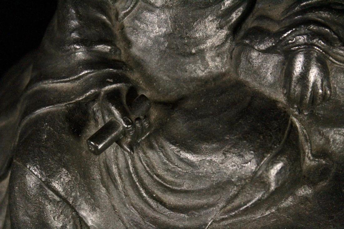 Japanese Bronze Kuanyin on Rock - 3
