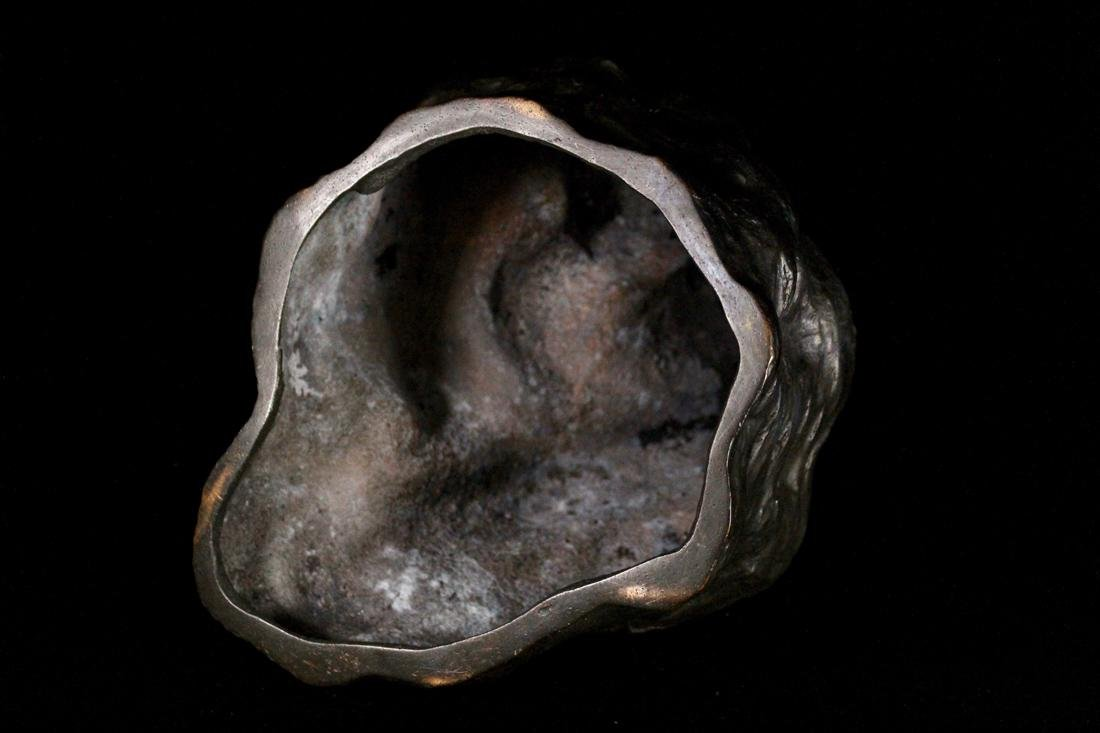 Japanese Bronze Kuanyin on Rock - 8