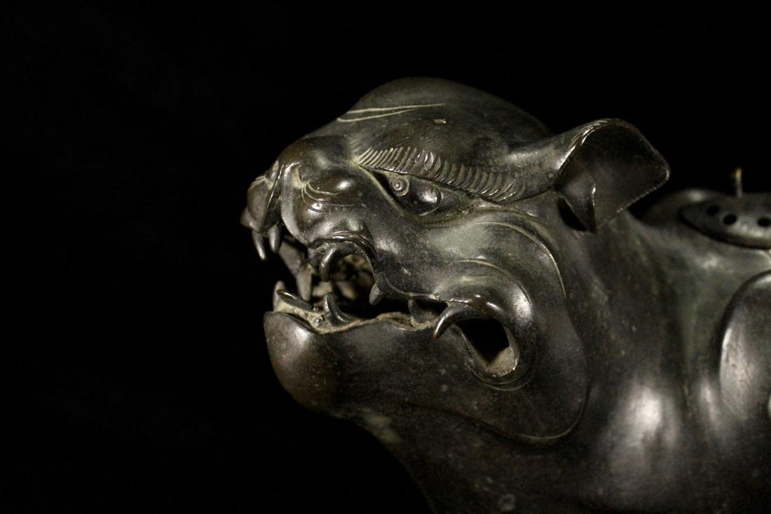 Early Japanese or Korean Bronze Tiger - 3