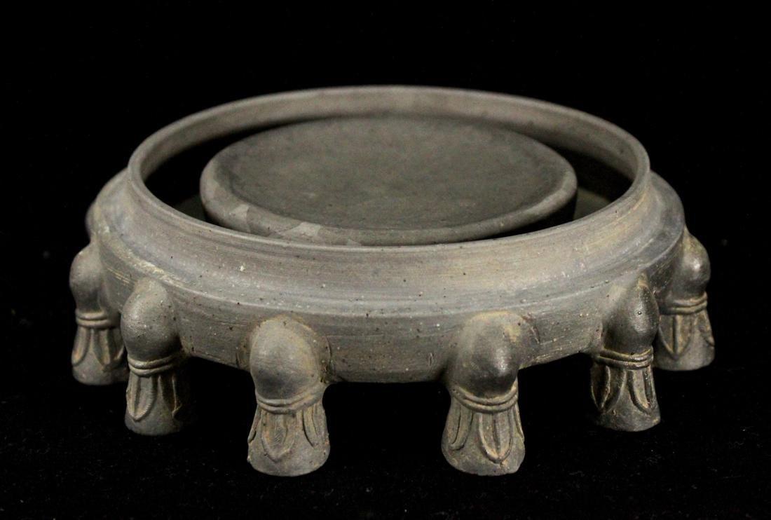 Chinese Pottery Inkstone of circular Shape