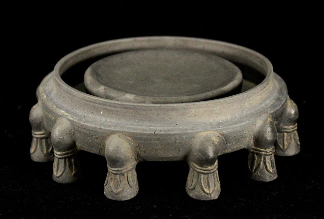 Chinese Pottery Inkstone of circular Shape