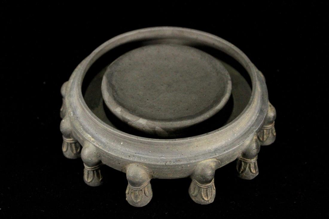 Chinese Pottery Inkstone of circular Shape - 2