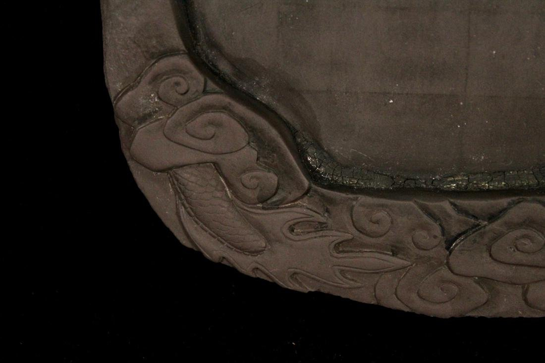 Chinese Inkstone with Dragon Scene - 4