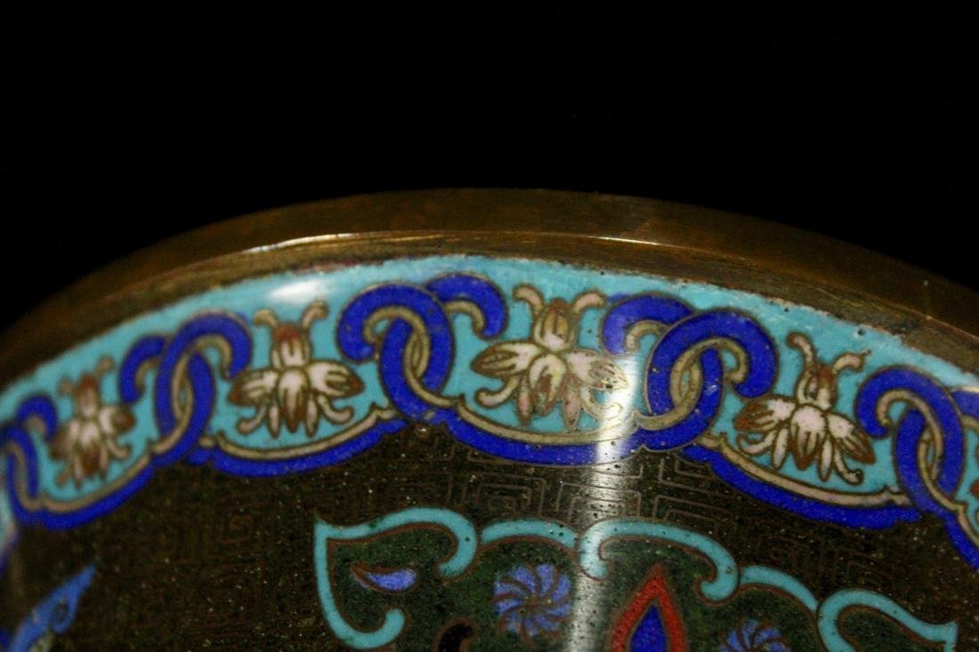 Chinese Cloisonne Censer with Elephane - 9
